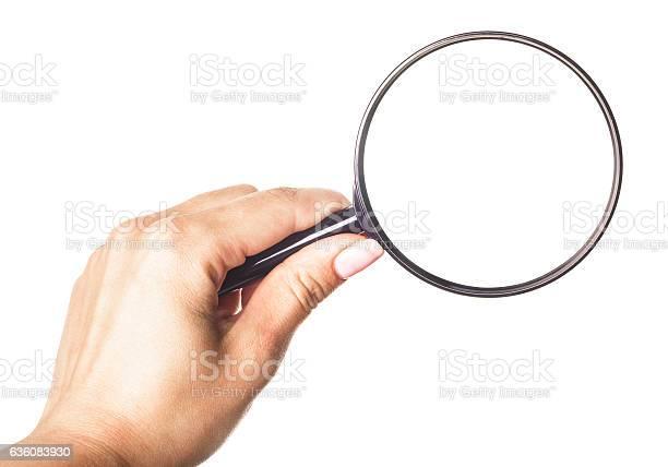 Hand holding magnifying glass isolated on white background picture id636083930?b=1&k=6&m=636083930&s=612x612&h=mwhbzdupyli0rpb7u blirk6xtktc88 xqumrzo3ar0=