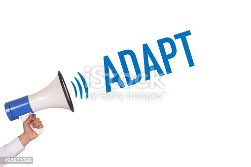 istock Hand Holding Megaphone with ADAPT Announcement 498973396