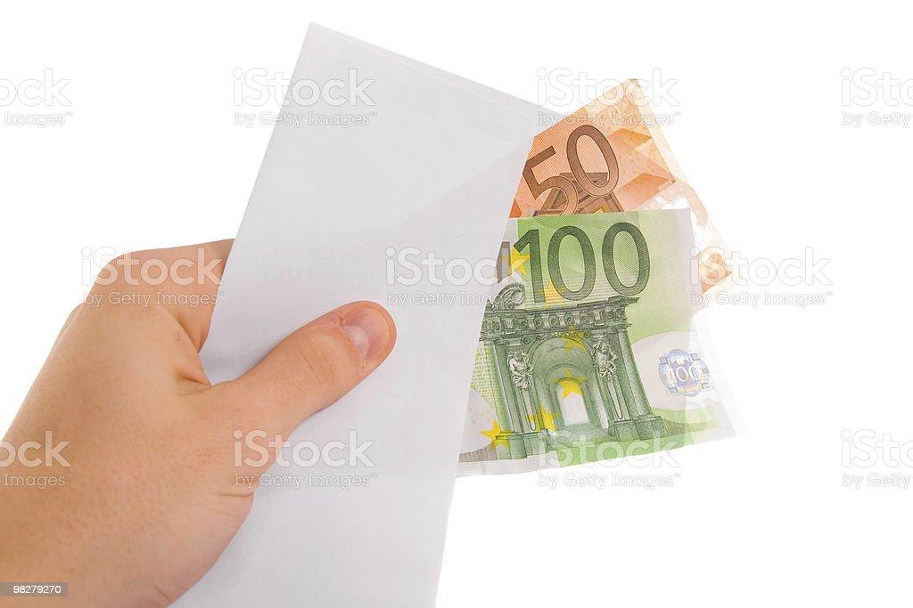 Hand holding money royalty-free stock photo