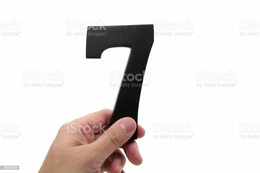 hand holding number 7 royalty-free stock photo