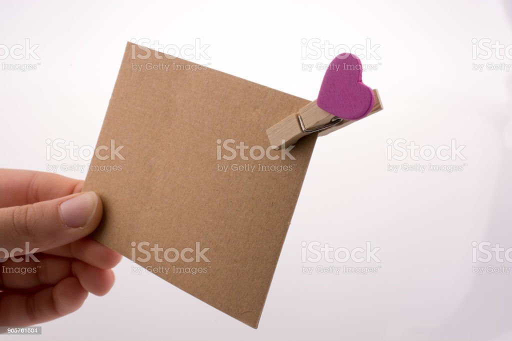 Hand holding papier - Royalty-free Achtergrond - Thema Stockfoto