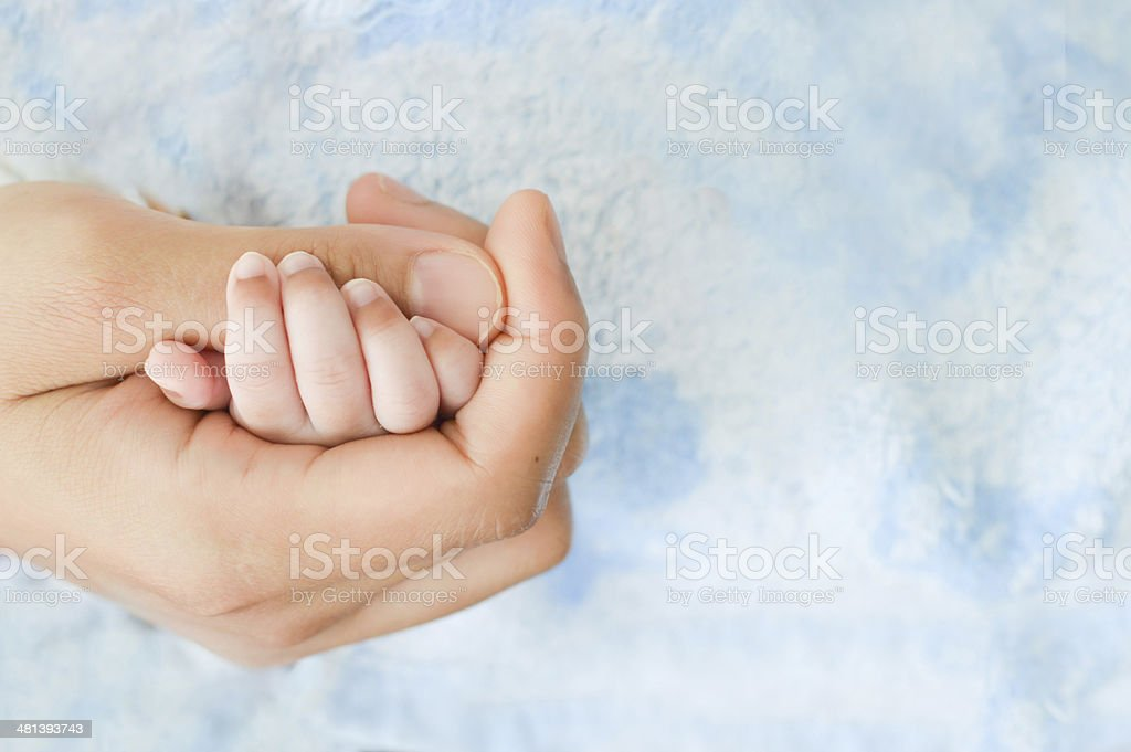 hand holding stock photo