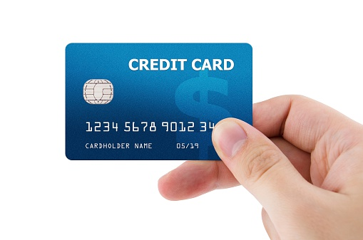 Hand Holding Plastic Credit Card Stock Photo - Download Image Now