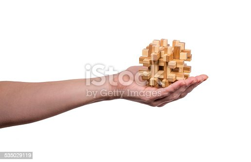 istock Hand holding puzzle 535029119