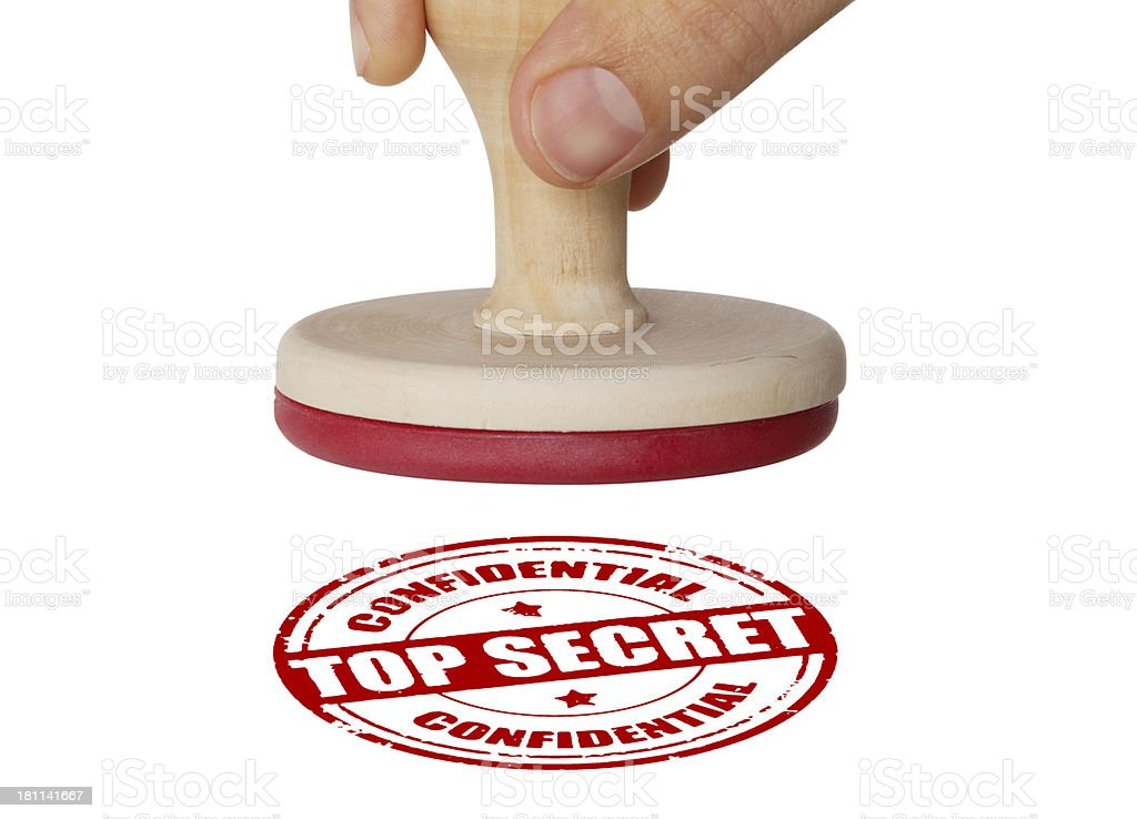 Hand Holding Rubber Stamp With Clipping Path royalty-free stock photo