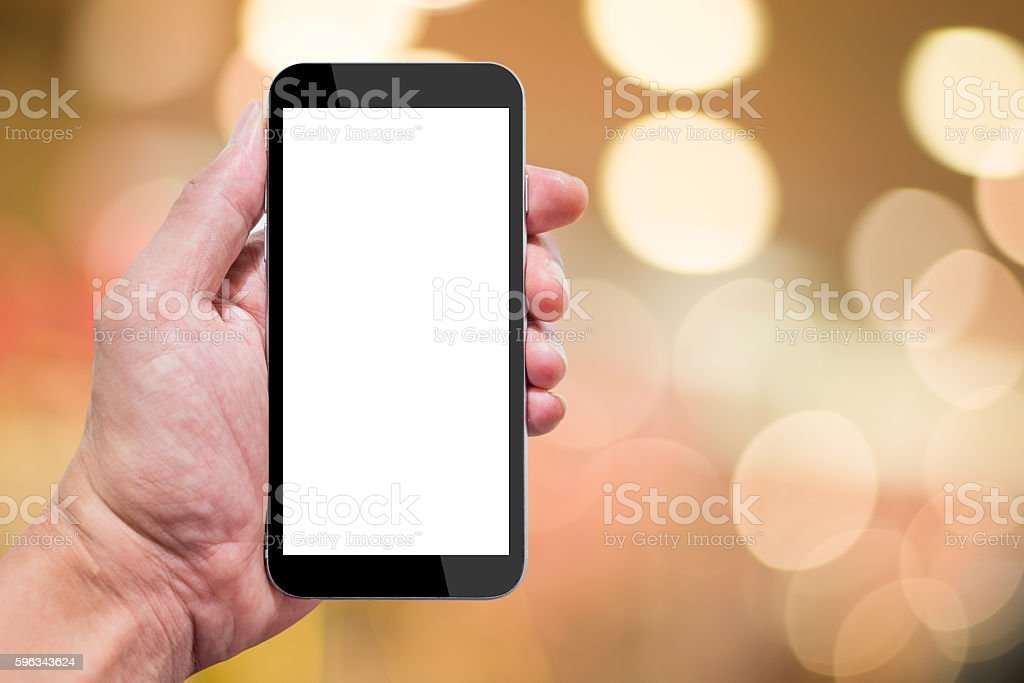 Hand holding smartphone royalty-free stock photo
