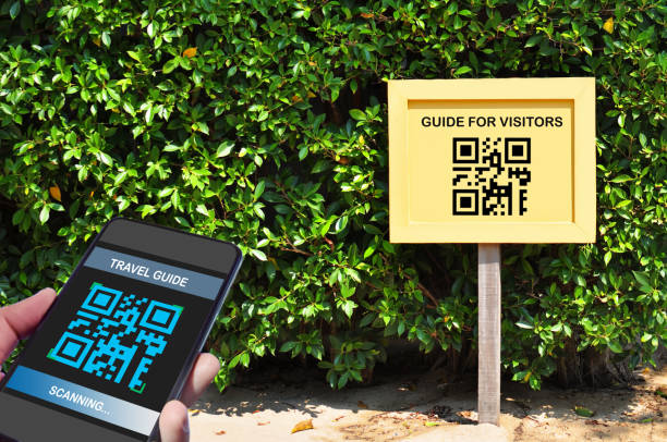 Sign with QR that a phone is scanning