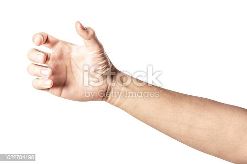 istock hand holding something like a bottle or can 1022704198