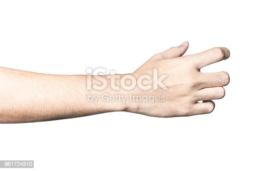 istock hand holding something like a bottle or can 961724510