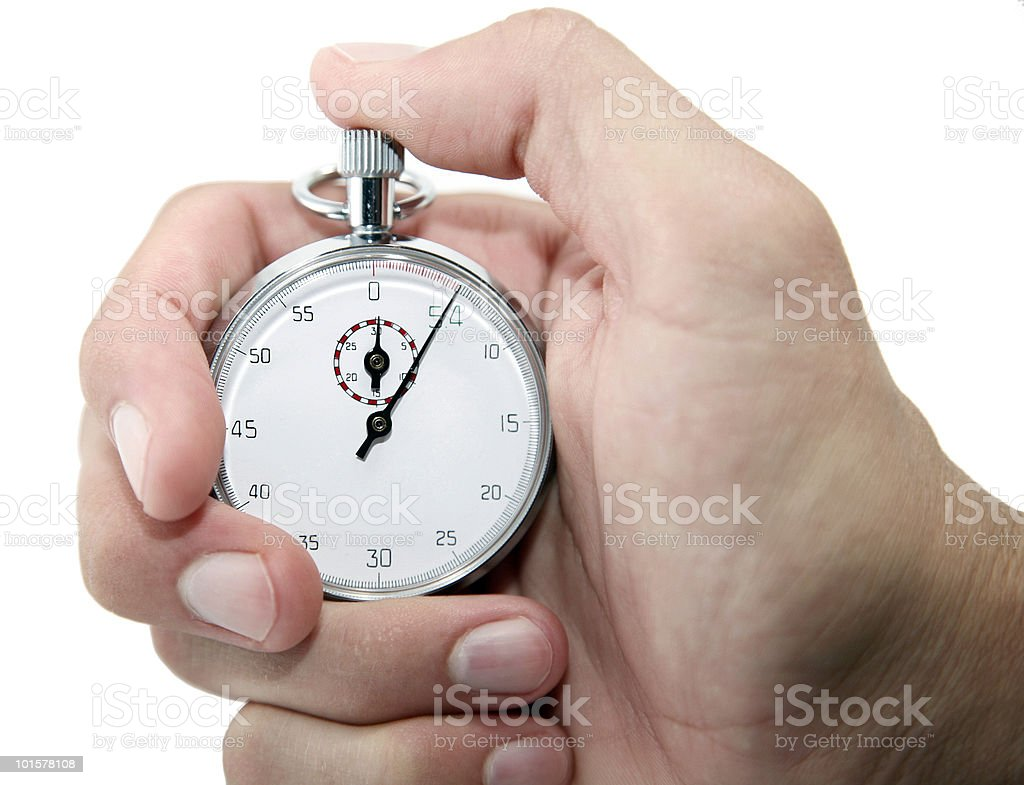 Hand Holding Stopwatch royalty-free stock photo