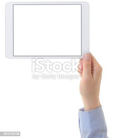 928855610istockphoto Hand holding tablet computer 181076108