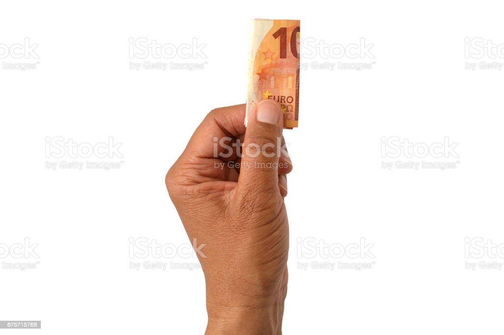 Hand Holding Ten Euro Bank Note – Foto