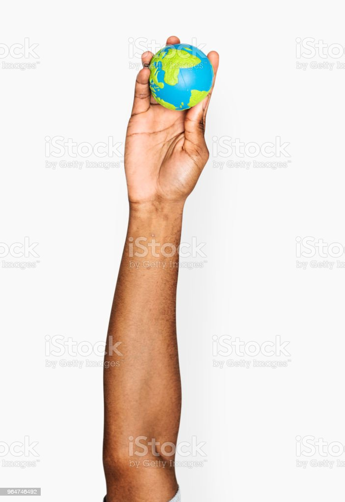 Hand holding variation of object royalty-free stock photo