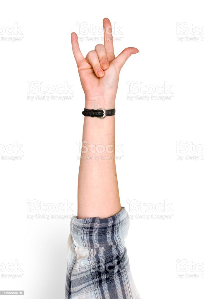 Hand holding variation of object - Royalty-free Arms Raised Stock Photo