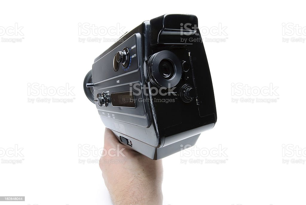 Hand Holding Vintage Super8 Movie Camera Isolated On White Stock Photo -  Download Image Now