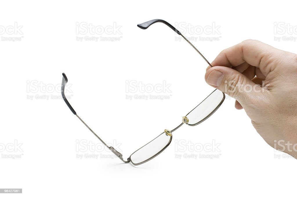hand holds glasses royalty-free stock photo