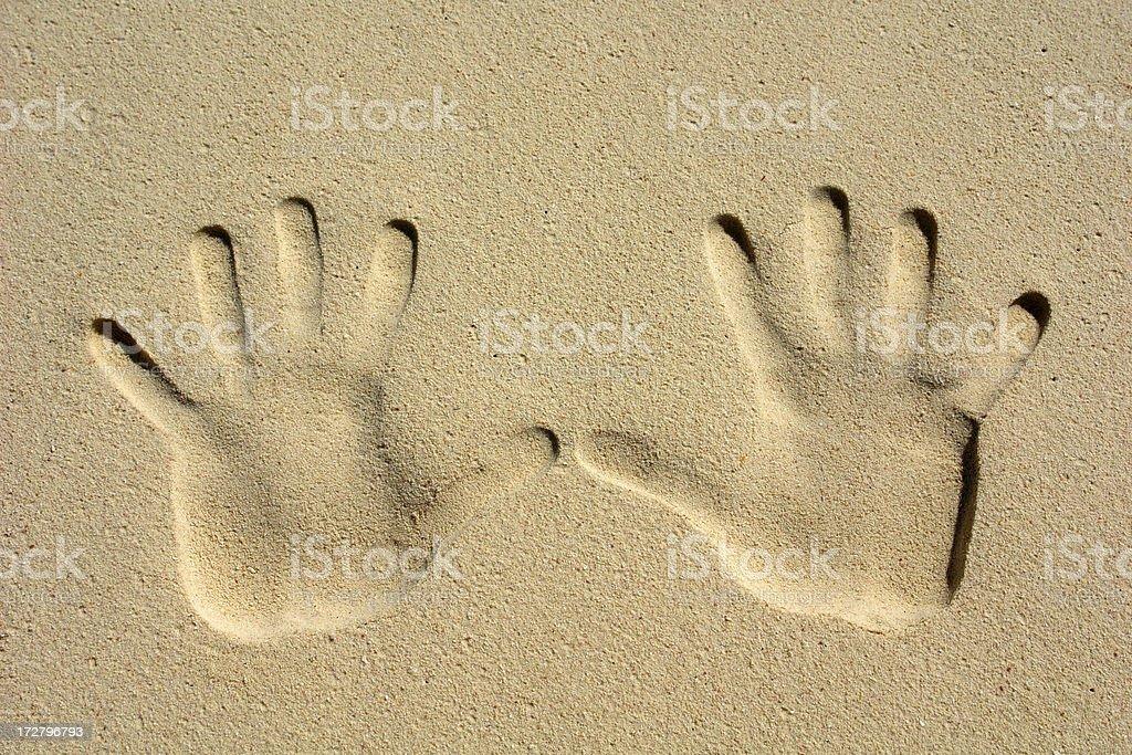 Hand Imprints royalty-free stock photo