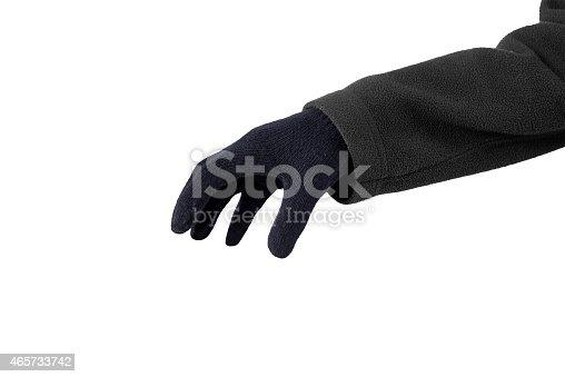 istock Hand in black gloves 465733742