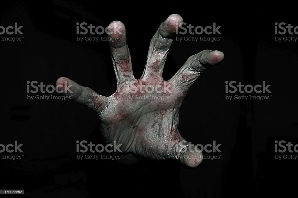 Hand in blood stock photo