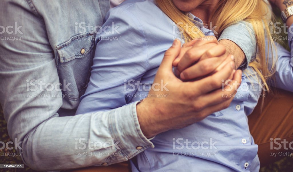 Hand in hand. royalty-free stock photo