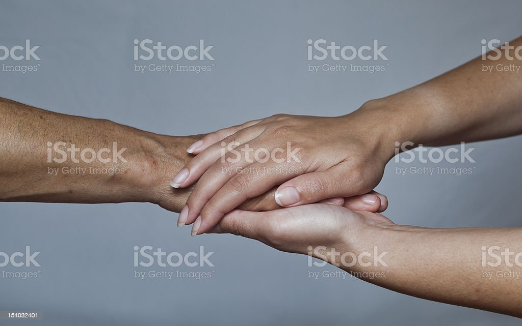hand in hands. royalty-free stock photo