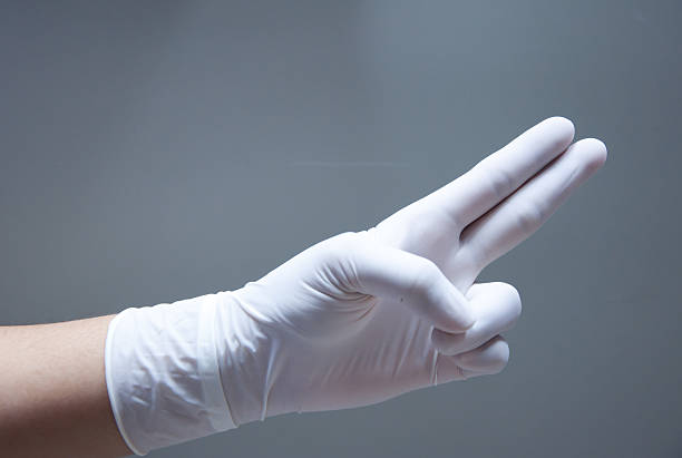 hand in medical glove - prostate exam stock pictures, royalty-free photos & images