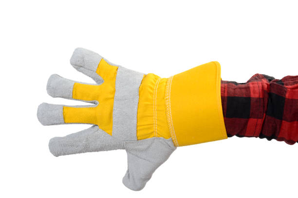 Hand In Protective Glove stock photo