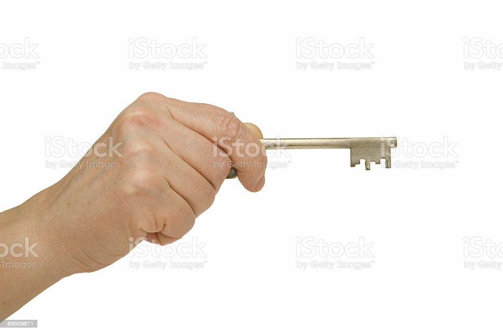 Hand Inserting Key royalty-free stock photo