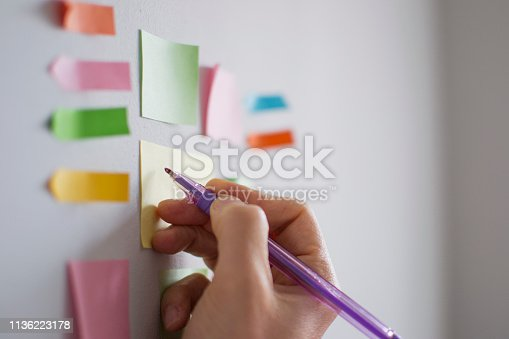 istock A hand is adding an new task to kanban board. Agile development in business 1136223178