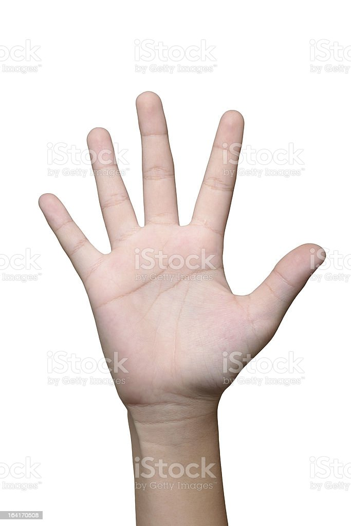 hand isolate royalty-free stock photo