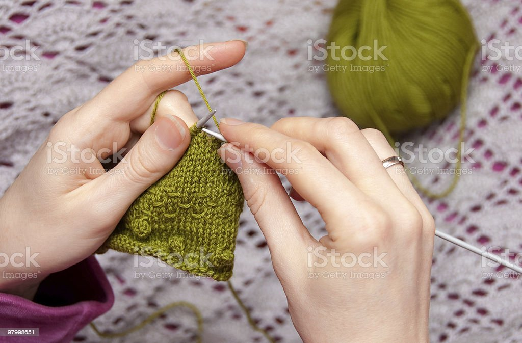 Hand Knitting royalty-free stock photo