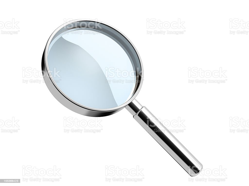 hand lens royalty-free stock photo