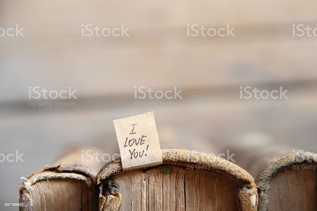I LOVE YOU hand lettering. Valentine card. stock photo