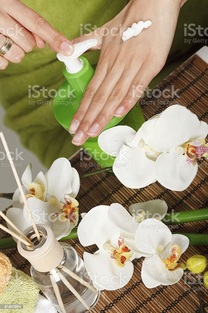 Hand lotion royalty-free stock photo