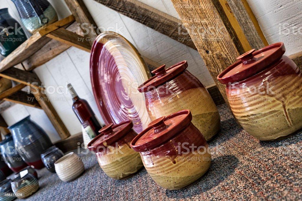 Hand Made Artisan Pottery stock photo