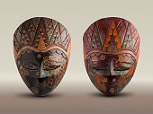 Hand made batik mask from Java Indonesia