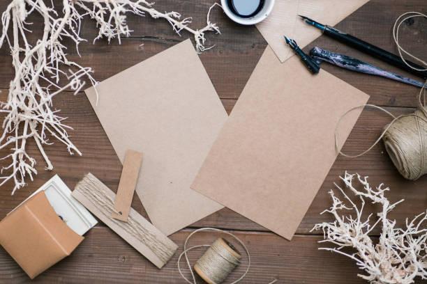 handgemachte strand themed hochzeitseinladung oder danke-karte leer. - do it yourself invitations stock-fotos und bilder