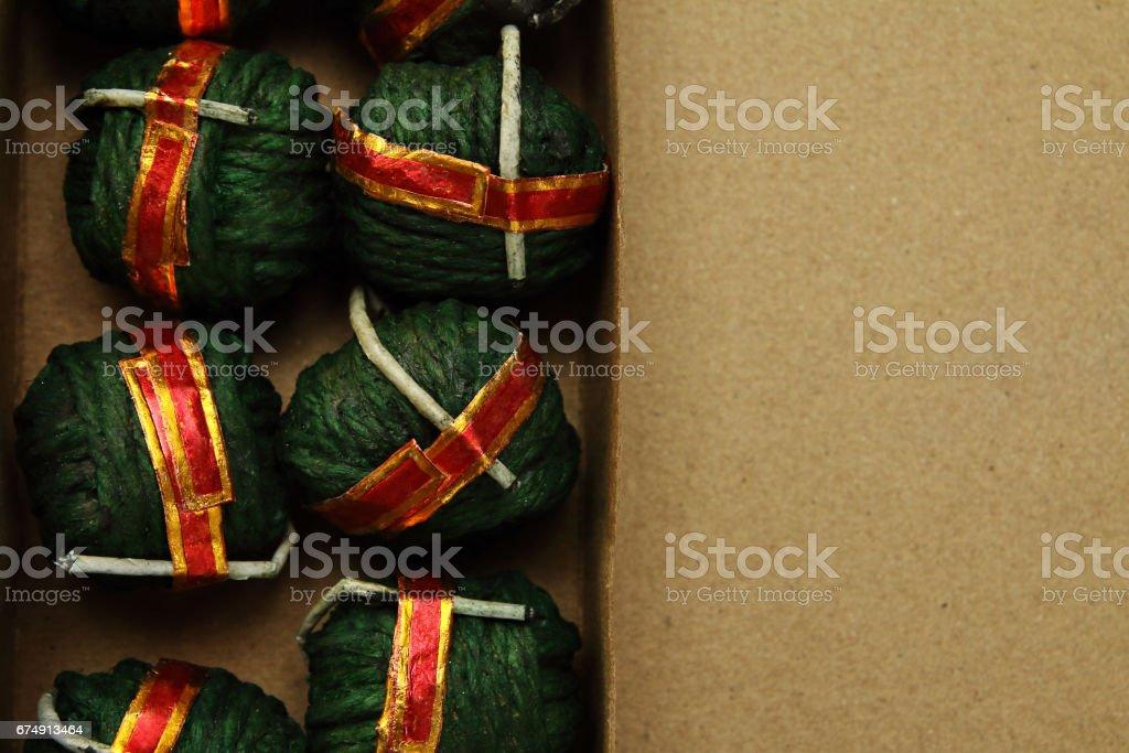 Hand Made Bomb royalty-free stock photo