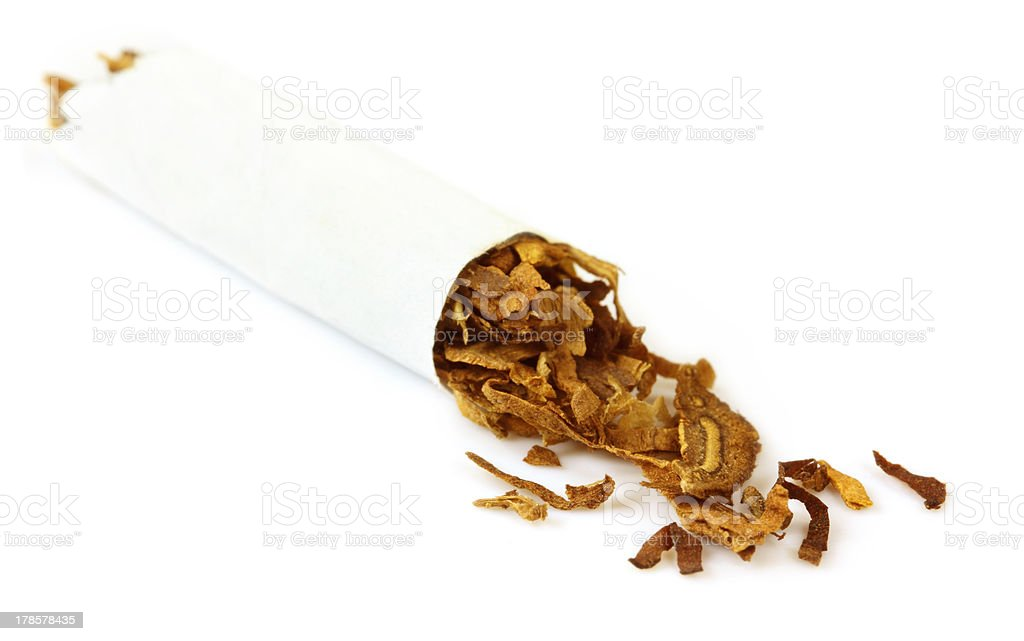 Hand made cigarette royalty-free stock photo