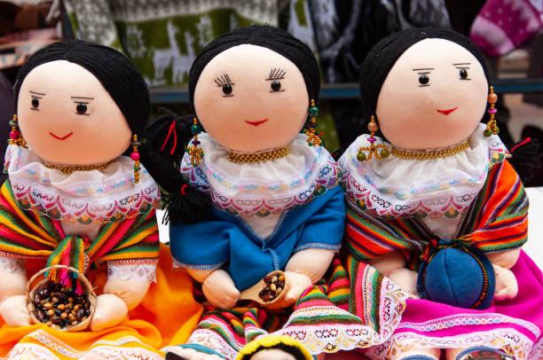 Hand made dolls stock photo