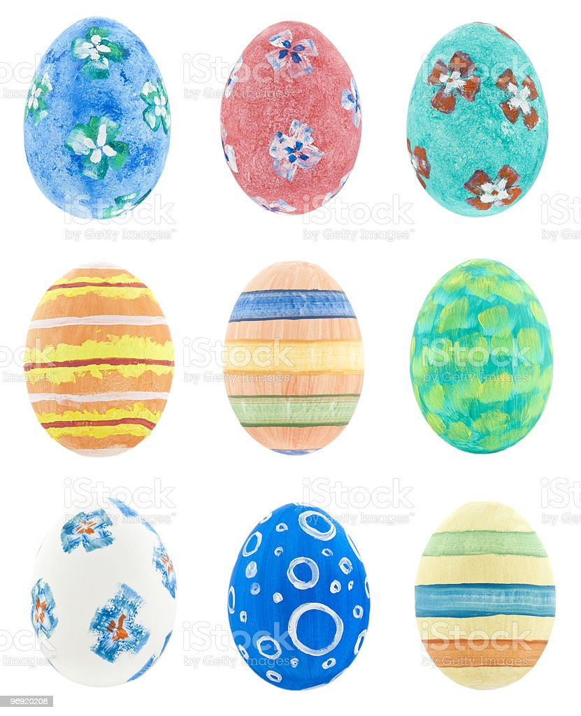 Hand made Easter Eggs royalty-free stock photo