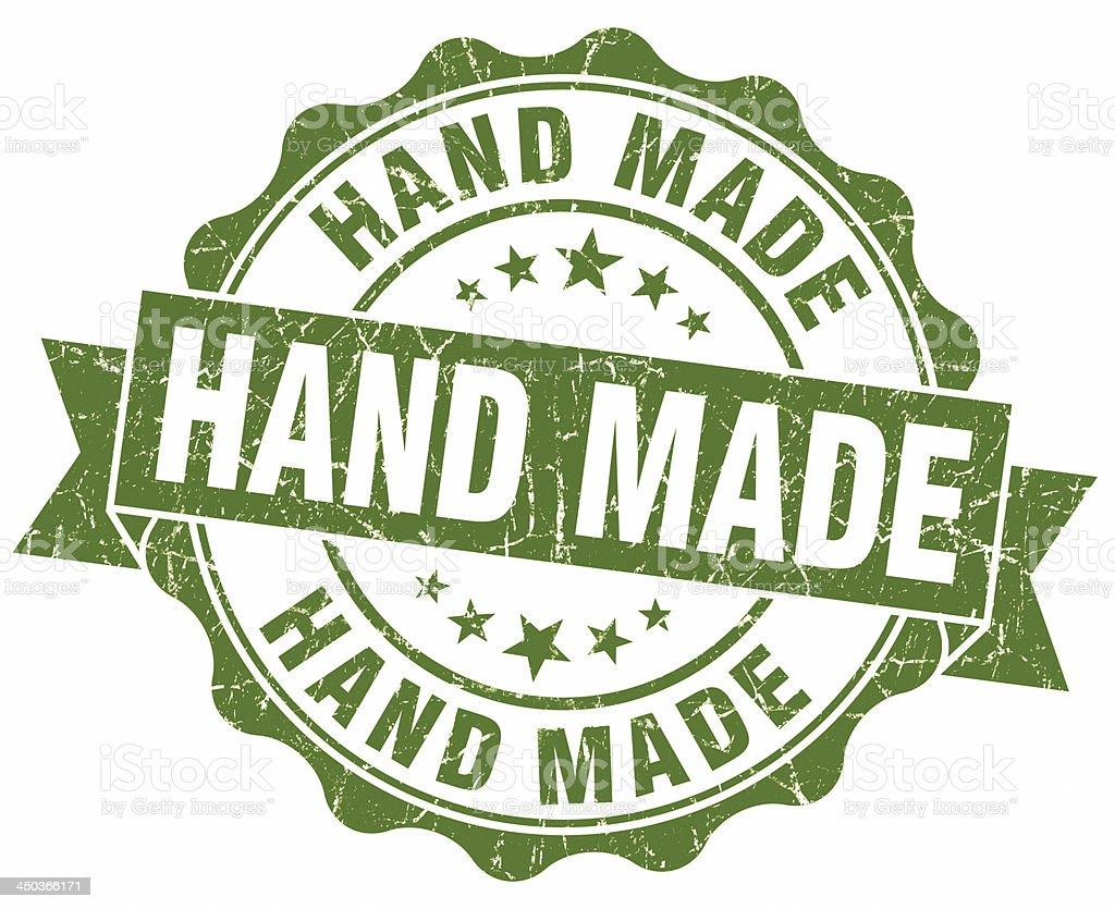 hand made green seal stock photo