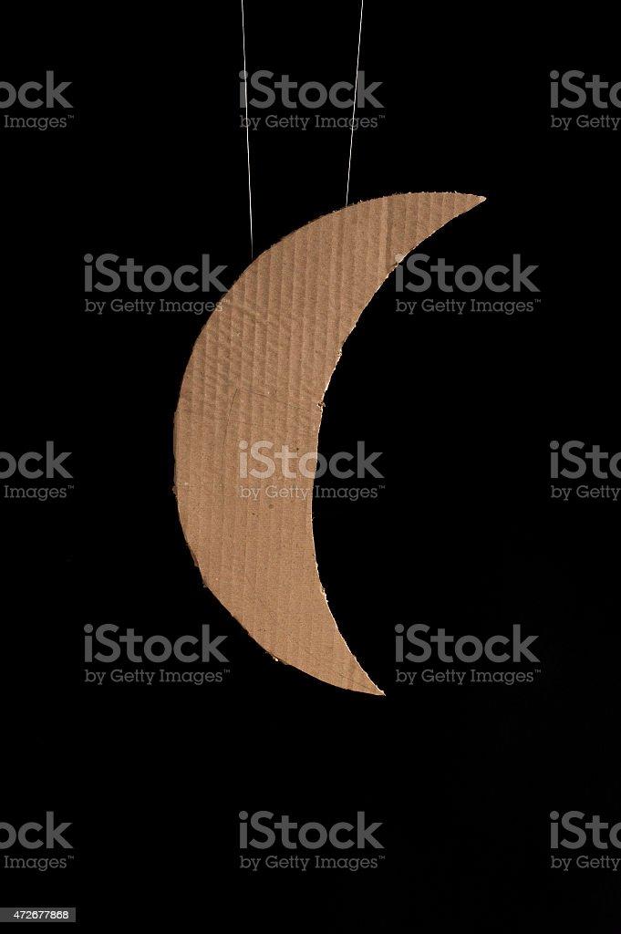 Hand made moon stock photo