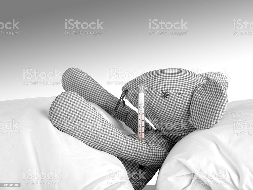 hand made mouse with thermometer royalty-free stock photo