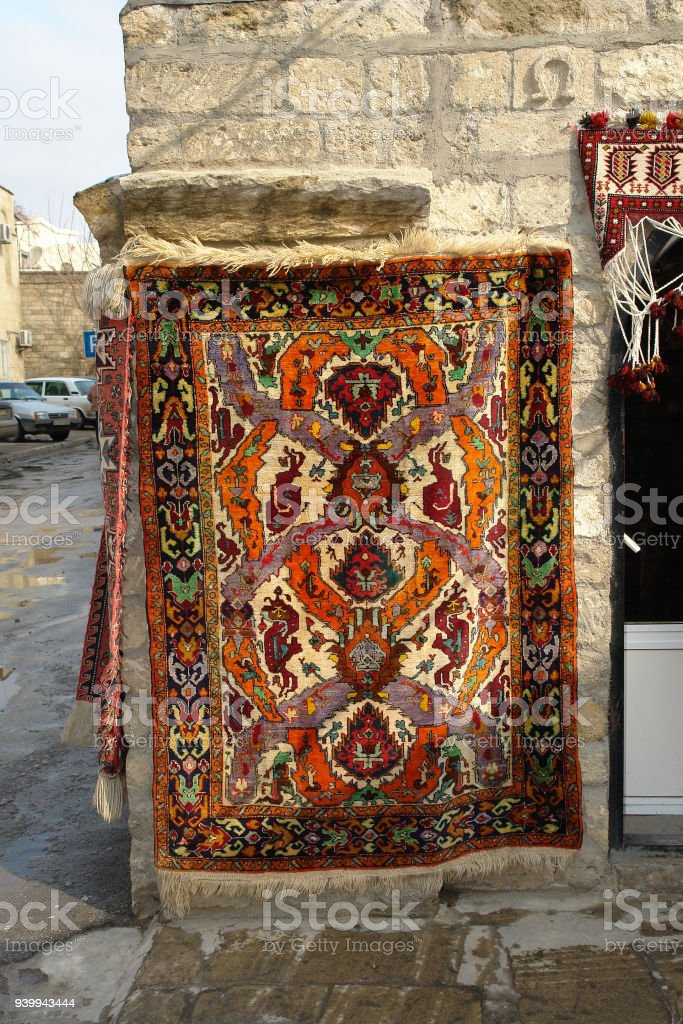 Hand Made Old Carpet stock photo