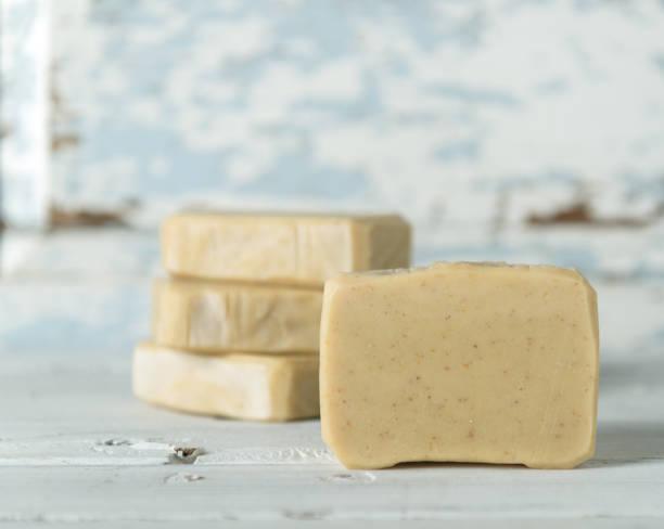 hand made organic soap - saponetta foto e immagini stock