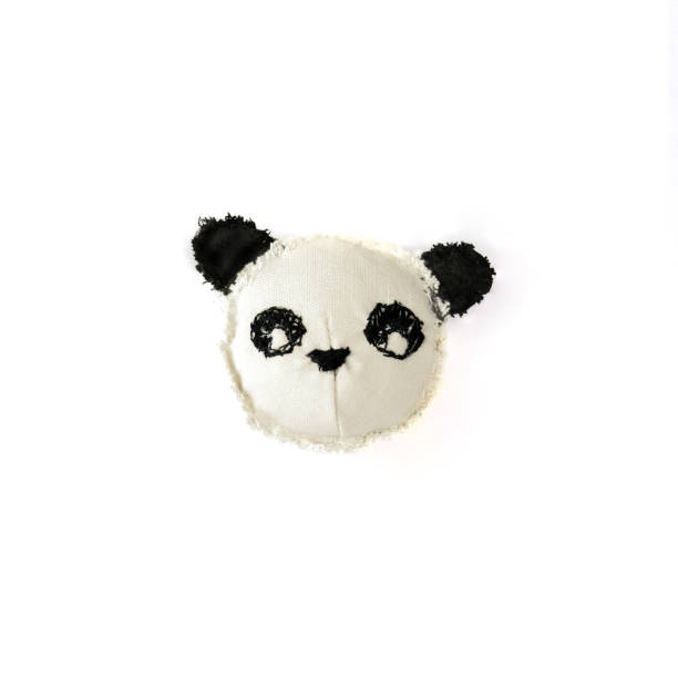 handgemachte panda kopf - nähpuppen stock-fotos und bilder