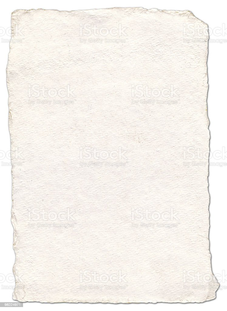 Hand Made Paper (w/Clipping Path) stock photo