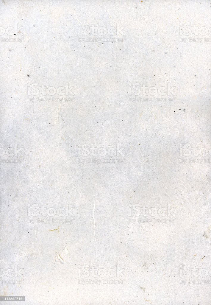 Hand made paper with small fibres and nubs royalty-free stock photo
