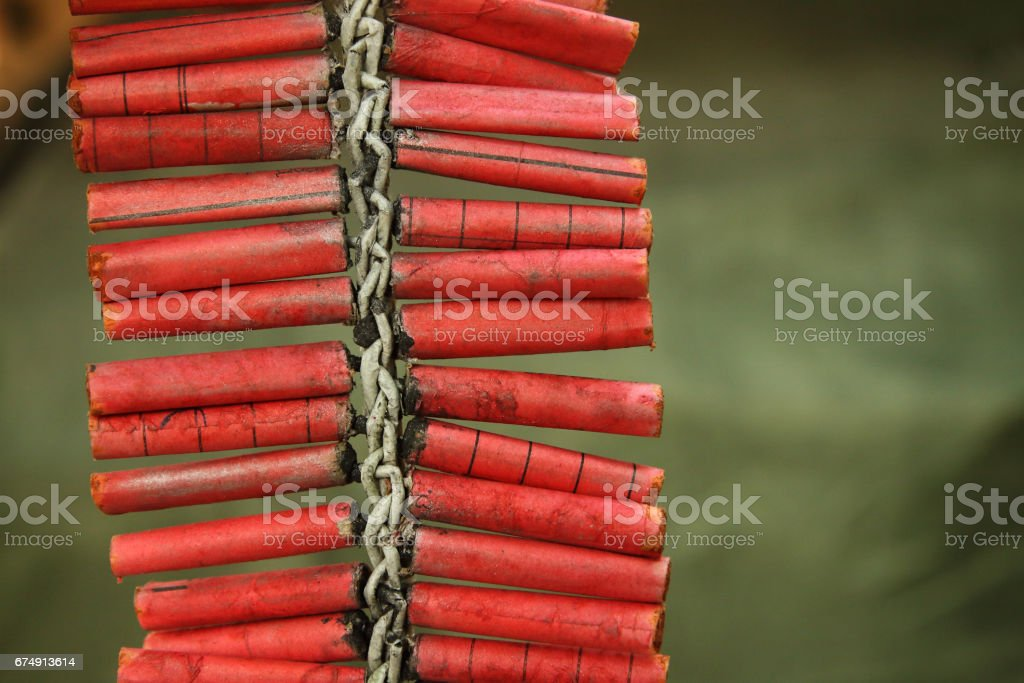 Hand Made Red Firecrackers royalty-free stock photo
